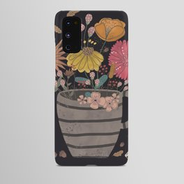A cup of flowers Android Case
