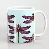 dragonfly Mugs featuring dragonfly by Sharon Turner