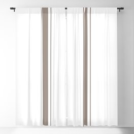 Brown Stripes Blackout Curtain