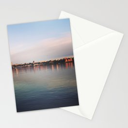 Early morning on the Hudson Stationery Cards