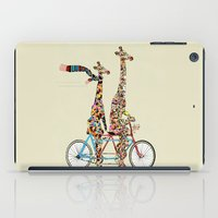 giraffe iPad Cases featuring giraffe days lets tandem by bri.buckley