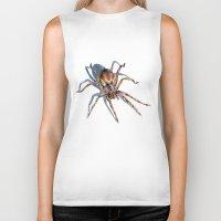 spider Biker Tanks featuring Spider by BigRedSharks