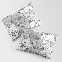 just goats black white Pillow Sham