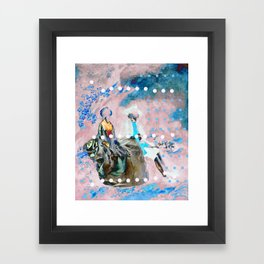 The Lovers In Pink Framed Art Print