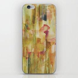 corn poppy in wheat field iPhone Skin