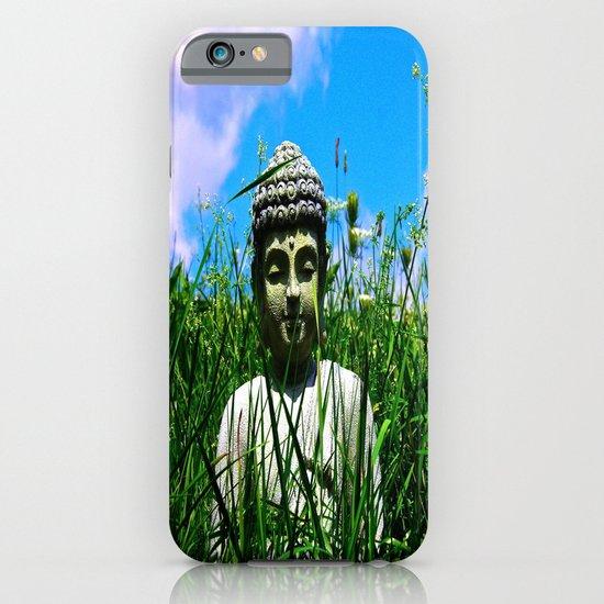 Buddha Looks Through Grass iPhone & iPod Case
