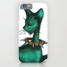 Green Spotted Kitty iPhone 6s Slim Case