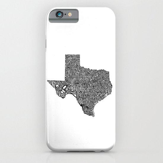 Typographic Texas iPhone & iPod Case