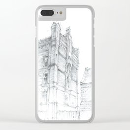 Old tenement house Clear iPhone Case