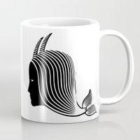 capricorn Mugs featuring Capricorn by Rebelot