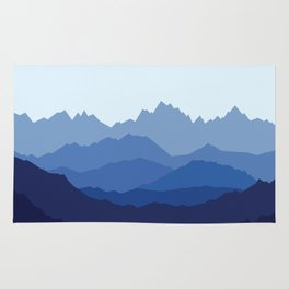 Blue Mountain range Rug