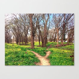 Our paths connect Canvas Print