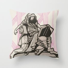 Cleo - Muse of History Throw Pillow