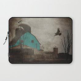 Rustic Teal Barn Country Art A158 Laptop Sleeve