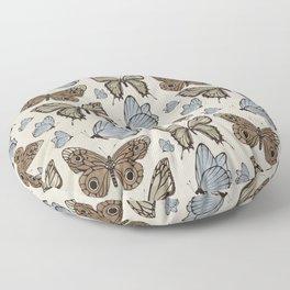 Vintage Butterflies Floor Pillow