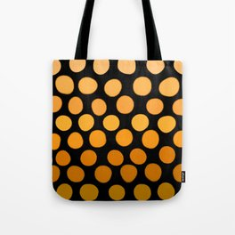 Honey Gold and Amber Ombre Dots Tote Bag