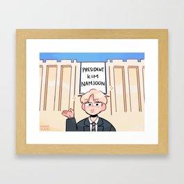 bts: mr president kim namjoon Framed Art Print