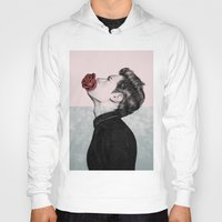 mouth Hoodies featuring Mouth Flower by Sofia Azevedo