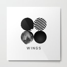 BTS Wings Album Cover Metal Print
