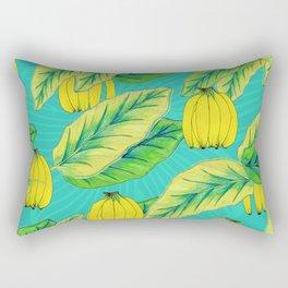 Banana Jungle - Blue Rectangular Pillow