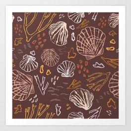 Deep-sea Treasures - warm Art Print