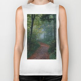 The Forest Path (Color) Biker Tank