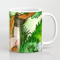 lara croft Mugs featuring Lara Croft by Jazmine Phillips