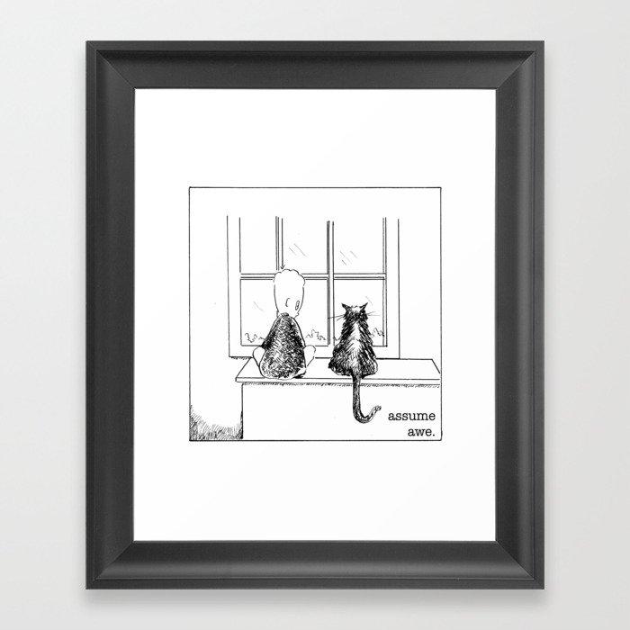 assume awe Framed Art Print