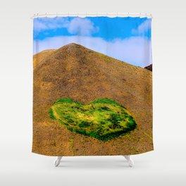 Volcanic heart Shower Curtain