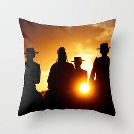 Golden pilgrims Throw Pillow