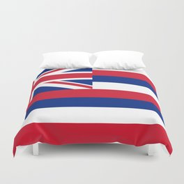 Hawaiian Flag, Official color & scale Duvet Cover
