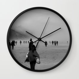 Disappear Into the Fog Wall Clock