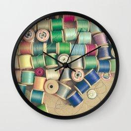 Cotton Reels Wall Clock