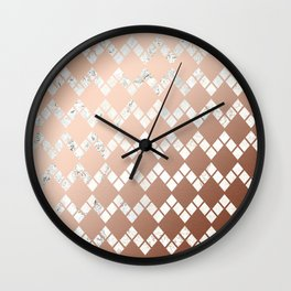 Copper & Marble 03 Wall Clock