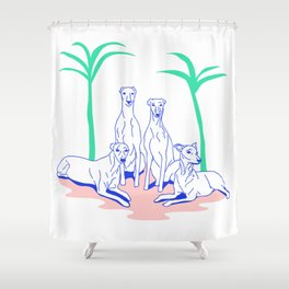 Galgos Shower Curtain
