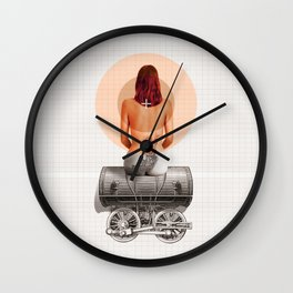 Traveling with loneliness Wall Clock