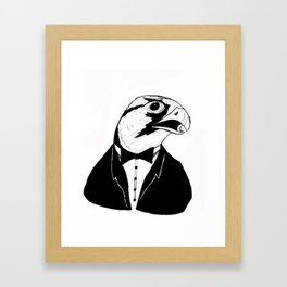 Falcon Tux Framed Art Print