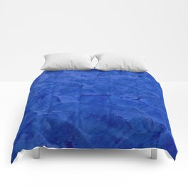 Dark Classic Blue Ombre Burnished Stucco - Faux Finishes - Venetian Plaster - Corbin Henry Comforters