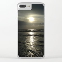 Silver sunrise Clear iPhone Case