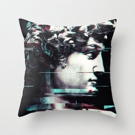 Abstract fractions of David Throw Pillow