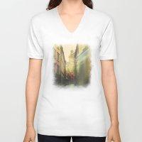 stockholm V-neck T-shirts featuring Stockholm by Viviana Gonzalez