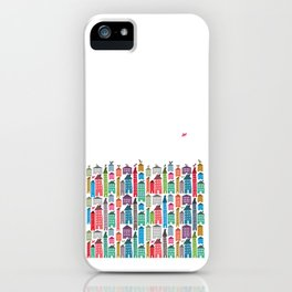 Houses and Birds iPhone Case