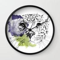 cheetah Wall Clocks featuring Cheetah by Modhi