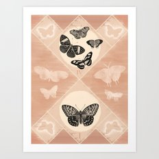 Fluttering in the Moonlight Art Print
