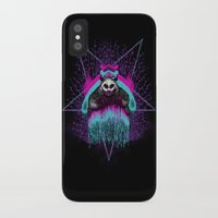 three of the possessed iPhone & iPod Cases featuring Possessed Panda by Pigboom Art