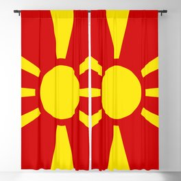National flag of Macedonia - authentic version Blackout Curtain