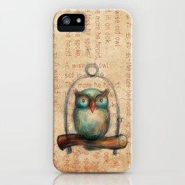 Wise Owl III iPhone Case