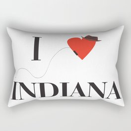 I heart Indiana Rectangular Pillow