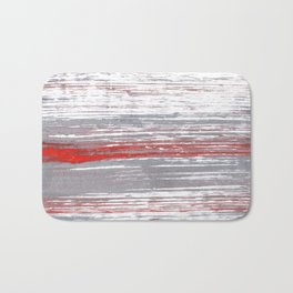 Red-gray abstract Bath Mat