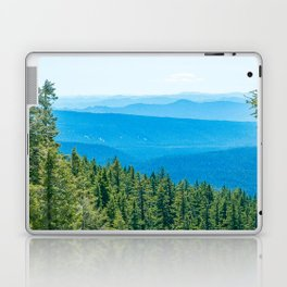 Artistic Brush // Grainy Scenic View of Rolling Hills Mountains Forest Landscape Photography Laptop & iPad Skin